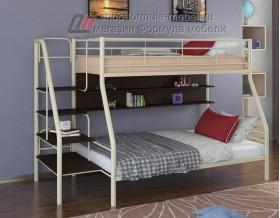 двухъярусная кровать Толедо-1 П цвет слоновая кость / венге