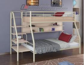 двухъярусная кровать Толедо-1 П цвет слоновая кость / дуб молочный