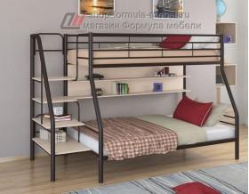 двухъярусная кровать Толедо-1 П цвет коричневый / дуб молочный, Формула мебели