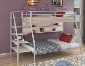 двухъярусная кровать Толедо-1 П цвет серый / дуб молочный