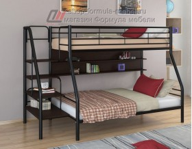 двухъярусная кровать Толедо-1 П цвет чёрный / венге