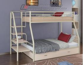 двухъярусная кровать Толедо-1 Я цвет слоновая кость / дуб молочный