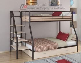 двухъярусная кровать Толедо-1 Я цвет коричневый / дуб молочный