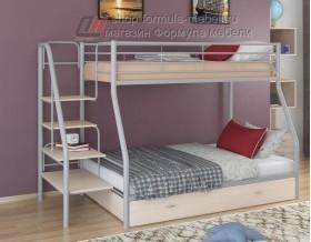 двухъярусная кровать Толедо-1 Я цвет серый / дуб молочный