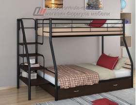 двухъярусная кровать Толедо-1 Я цвет чёрный / венге