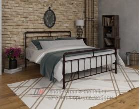 металлическая двухспальная кровать Авила, цвет коричневый