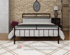 металлическая двухместная кровать Авила, цвет коричневый