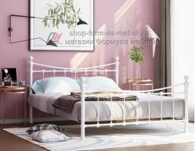 металлическая двухспальная кровать Эльда, цвет белый
