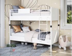 Дельта-Лофт-20.02.02 двухъярусная кровать в интерьере цвет БЕЛЫЙ