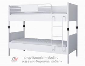 Дельта-Лофт-20.02.02 двухъярусная кровать цвет БЕЛЫЙ