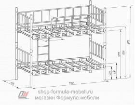 Дельта-Лофт-20.02.03 кровать двухъярусная размеры