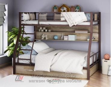 двухъярусная кровать Гранада-1 ПЯ цвет коричневый / дуб Айленд