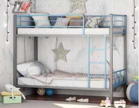 двухъярусная кровать Севилья-2-01 цвет серый / голубой, Формула мебели
