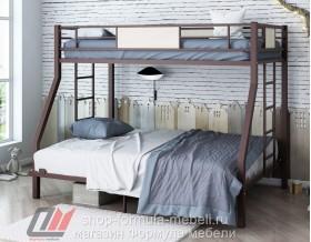 двухъярусная кровать Гранада 1400 цвет коричневый / ясень шимо светлый