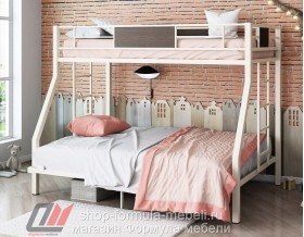 двухъярусная кровать Гранада 1400 цвет слоновая кость / венге Формула мебели