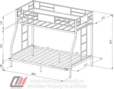 двухъярусная кровать Гранада 1400 размеры