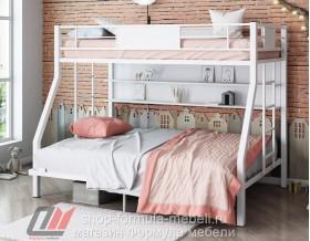 двухъярусная кровать Гранада-П 140 (полка) белый