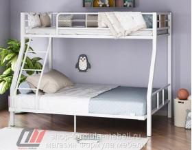 двухъярусная кровать Гранада-1 140 цвет белый / дуб Айленд