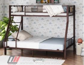 двухъярусная кровать Гранада-1 140 цвет коричневый / дуб Айленд