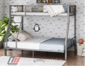 двухъярусная кровать Гранада-1 140 цвет серый / дуб Айленд