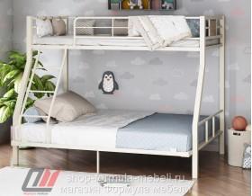 двухъярусная кровать Гранада-1 140 цвет слоновая кость / дуб Айленд