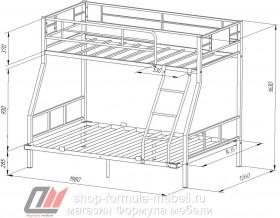 двухъярусная кровать Гранада-1 140 размеры