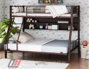 двухъярусная кровать Гранада-1П 140 цвет коричневый / венге