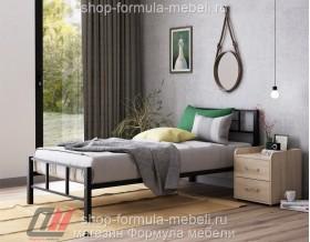 металлическая кровать Кадис односпальная, цвет чёрный
