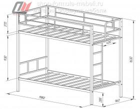 двухъярусная кровать Севилья размеры