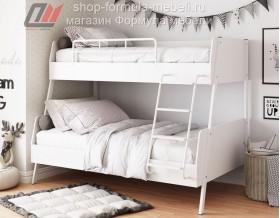 Дельта-Лофт-20.02.04 двухъярусная кровать белая
