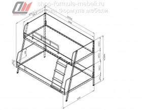 размеры кровати Дельта-Лофт-20.02.04