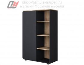 Дельта-Лофт 13 шкаф комбинированный ЧЁРНЫЙ