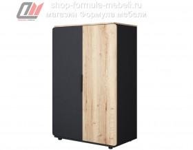 Дельта-Лофт 13.01 шкаф для одежды ЧЁРНЫЙ