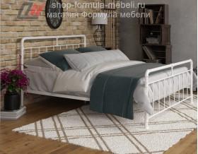 металлическая двуспальная кровать Авила белая