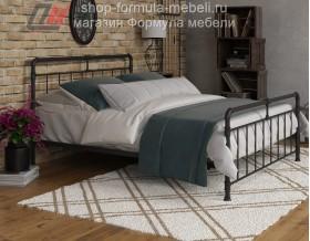 металлическая двуспальная кровать Авила чёрная