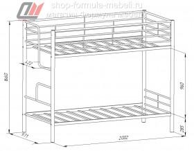 двухъярусная кровать Севилья 4 размеры