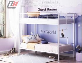белая двухъярусная кровать Севилья 4