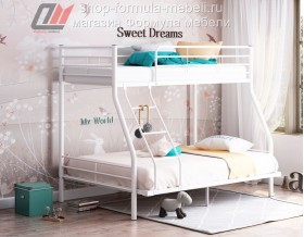 кровать Гранада-2 140 белая, Формула мебели