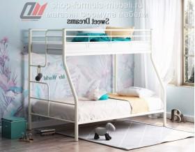 кровать Гранада-3 слоновая кость, лестница слева