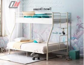 кровать Гранада-3 140 слоновая кость, лестница справа