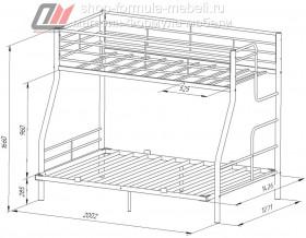 кровать Гранада-3 140 размеры