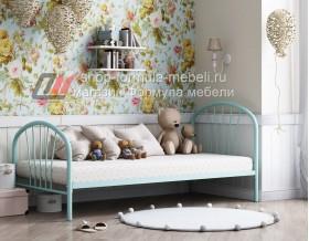 кровать Эвора бирюзовая