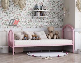 кровать Эвора-1 розовая
