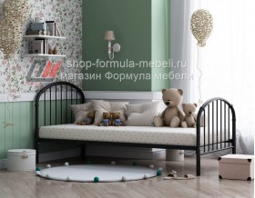 металлическая кровать Эвора-1 чёрная