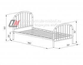 кровать Эвора-1 размеры