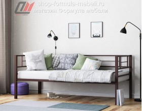 металлическая кровать Лорка коричневая