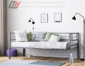 металлическая кровать Лорка серая