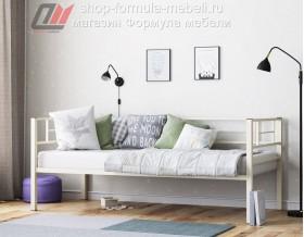 металлическая кровать Лорка слоновая кость