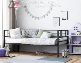 металлическая кровать Лорка чёрная