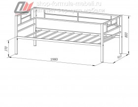 металлическая кровать Лорка размеры